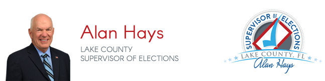 Alan Hays Supervisor of Elections Lake County