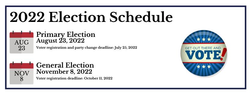 Pennsylvania 2022 Election Calendar.Home