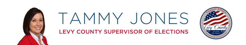 Tammy Jones Supervisor of Elections Levy County