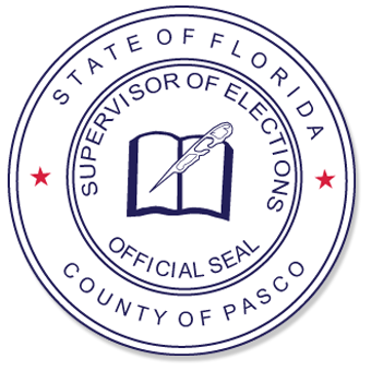 State of Florida, County of Pasco, Supervisor of Elections Official Seal